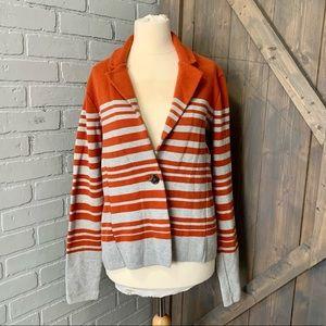 Audrey & Grace Striped Knit Blazer
